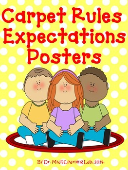 Carpet Rules and Expectations Posters