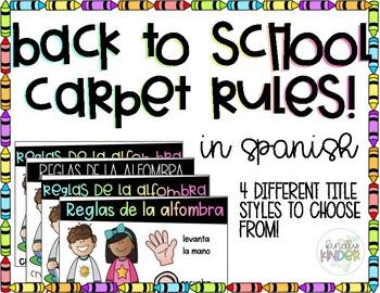 Carpet Rules in Spanish!