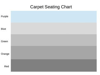 Carpet Seating Chart - Black and White