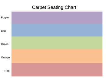 Carpet Seating Chart - Color