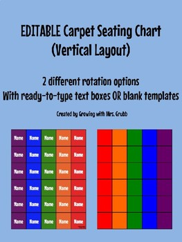 Carpet Seating Chart EDITABLE - Vertical Layout