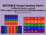 Carpet Seating Chart for ActivInspire Promethean Boards EDITABLE