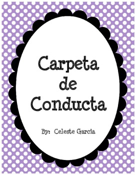 Carpeta de Conducta (Spanish)