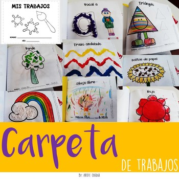 Carpeta de trabajos / Álbum de Evidencias para preescolar en Español