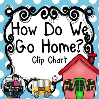 Carpool Clip Chart {How Do We Go Home?} Light Blue