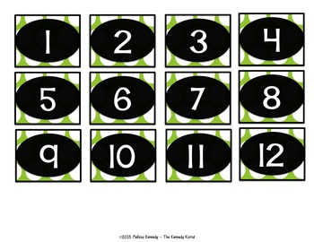 Carpool Clip Chart: Lime Green