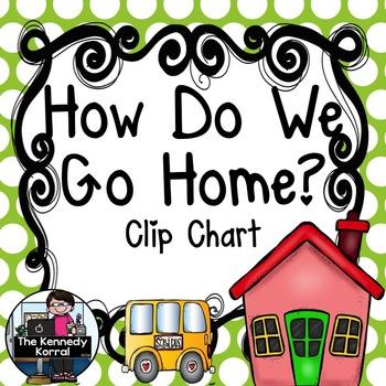 Carpool Clip Chart {How Do We Go Home?} Lime Green