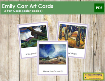 Carr (Emily) 3-Part Art Cards - Color Borders