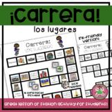 Carrera Board Game: Los lugares