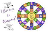 Carrera de Compras - Spanish Food Vocabulary Game (plus SmartBoard version)