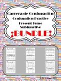 Carrera de Conjugacion: Present Subjunctive Verb Practice BUNDLE!