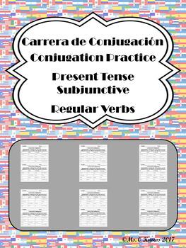 Carrera de Conjugacion: Regular Present Subjunctive Verb Practice
