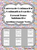 Carrera de Conjugacion: Spelling-Change Present Subjunctive Verb Practice