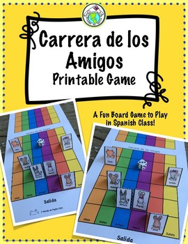 photograph regarding Printable Board Games for Adults titled Carrera de los Amigos Printable Board Video game for Spanish Cl