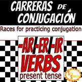 Carreras de Conjugación -AR/-ER/IR Verbs in Present Tense