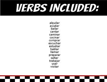 Carreras de Conjugación- AR Verbs in Present Tense