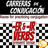 Carreras de Conjugación- ER/IR Verbs in Present Tense