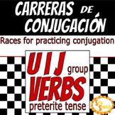 Carreras de Conjugación U, I, J Group Verbs in Preterite Tense