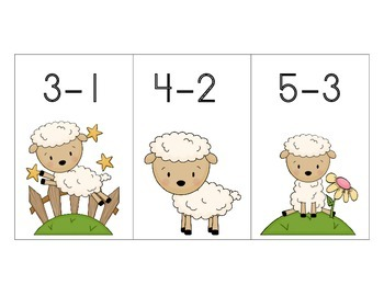 Carrie Had a Little Lamb Subtraction Facts to Five