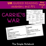 Carrie's War: Vocabulary