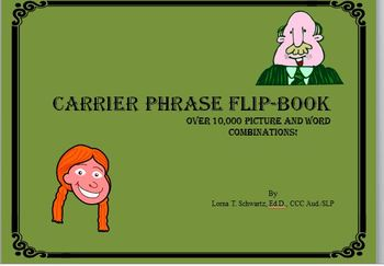 Carrier Phrase Flip Book [for drill practice]