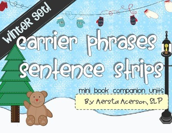 Carrier Phrases Mini Book Companion Units: Winter Pack