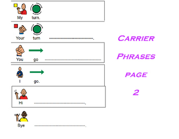 Carrier Phrases for Increasing MLU and Expanding Expressive Language