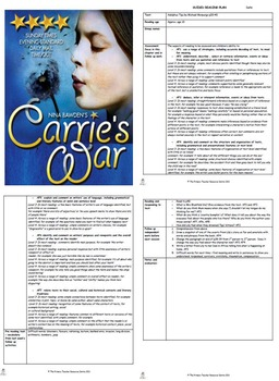 Carrie's War Guided Reading Plans