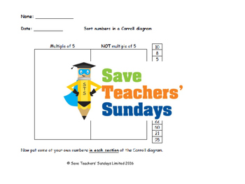 Carrol diagrams lesson plans, worksheets and more