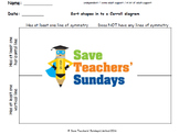 Carroll diagram lines of symmetry and lines worksheets  (3 levels of difficulty)