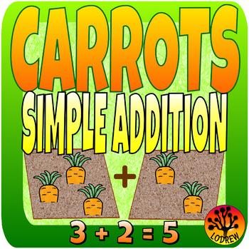 Carrot Centers Spring Activities Addition Carrot Garden Centers Math Vegetables