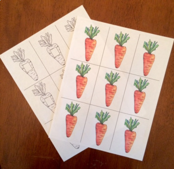 Carrot Math Game (Watercolor Whimsy)