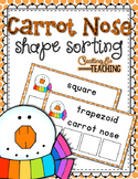 Carrot Nose Shape Sorting