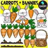 Carrots & Bunnies Clip Art Set {Educlips Clipart}