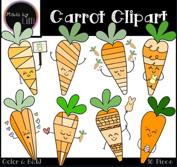 Spring easter. Carrots clipart