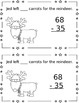 Carrots for Reindeer - 2 Digit Addition and Subtraction (no regroup) {FREEBIE}