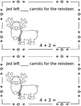 Carrots for Reindeer - Single Digit Addition {FREEBIE}