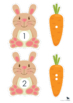 Carrots for the Bunny - Easter Number Matching Game