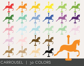 Carrousel Digital Clipart, Carrousel Graphics, Carrousel PNG