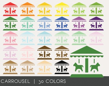 Carrousel Digital Clipart, Carrousel Graphics, Carrousel PNG