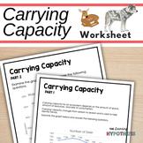 Carrying Capacity Worksheet. Population ecology worksheet