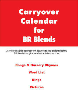Carryover Calendar for Artic Blend BR