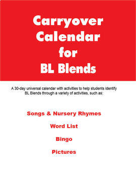 Carryover Calendar for Artic Blend BL