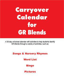 Carryover Calendar for Artic Blend GR