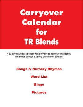Carryover Calendar for Artic Blend TR