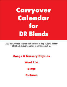 Carryover Calendar for Artic Blend DR