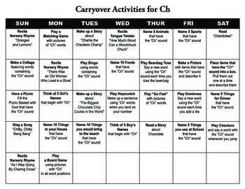 Carryover Calendar for Ch