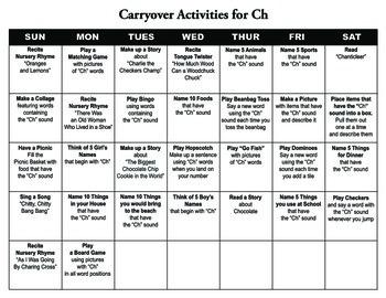 Carryover Calendar for Ch