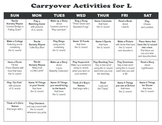 Carryover Calendar for L