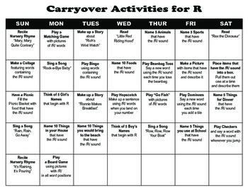 Carryover Calendar for R